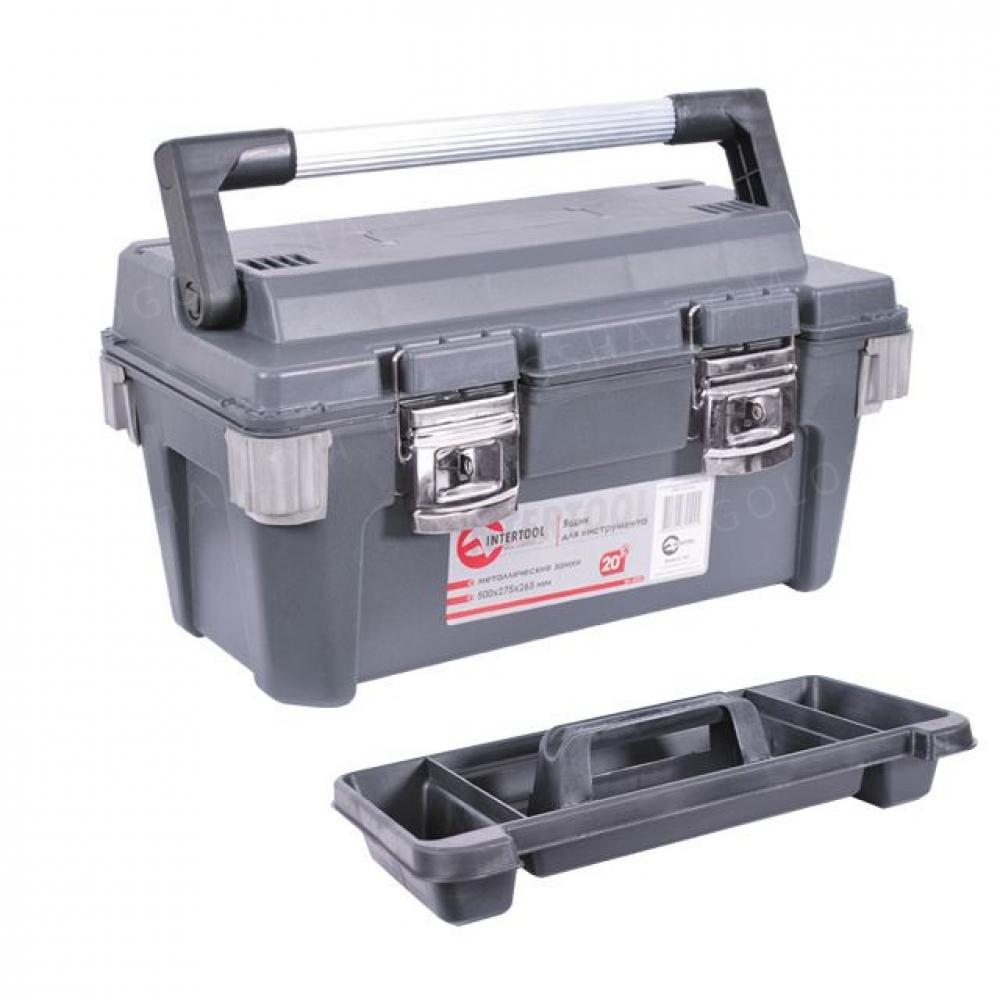 Ящик для инструмента с металлическими замками 20 50 INTERTOOL BX-6020