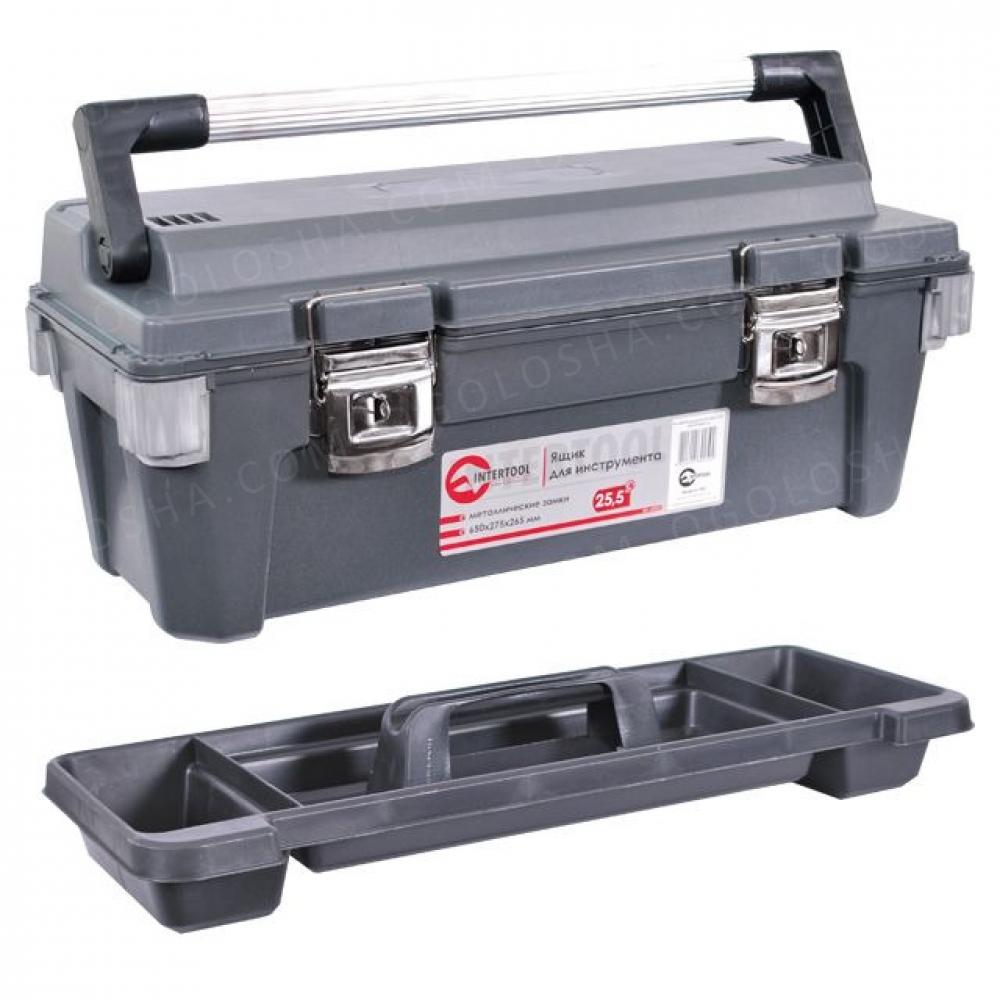 Ящик для инструмента с металлическими замками 25.5  INTERTOOL BX-6025