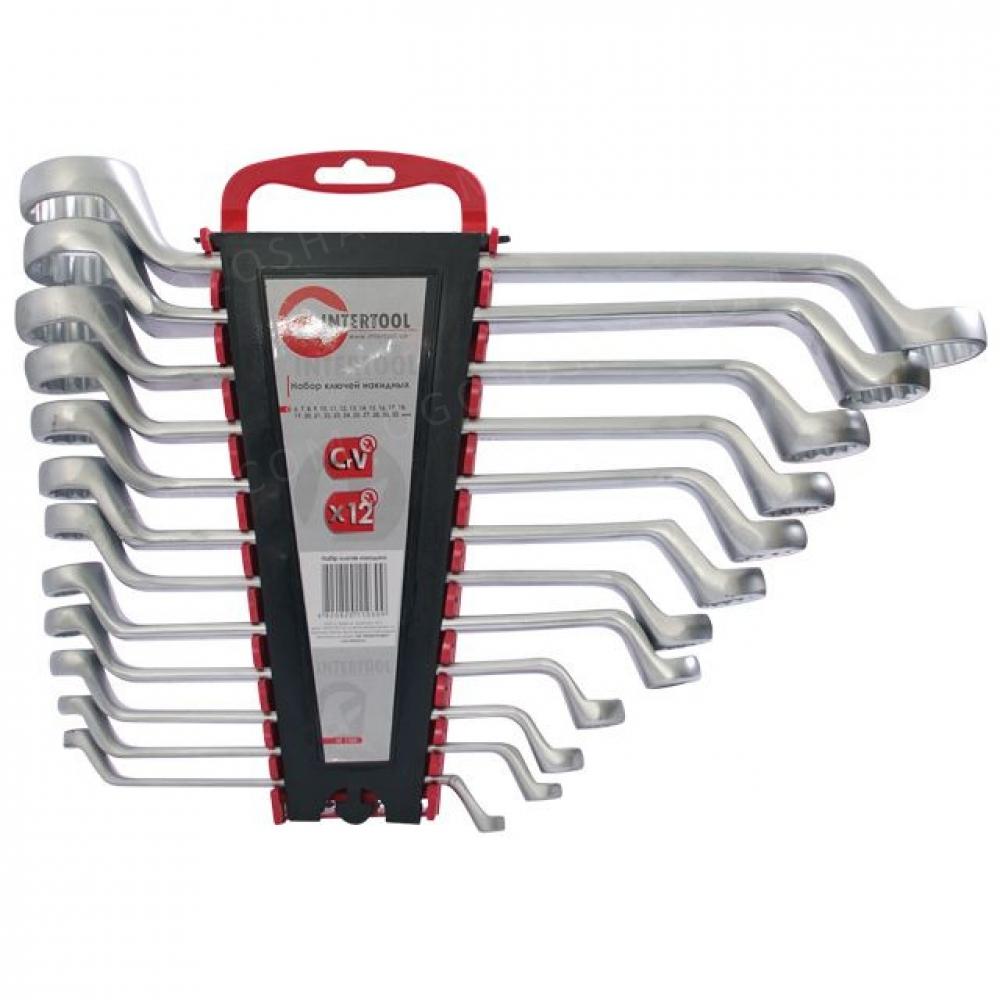 Набор ключей накидных 12ед 6-32мм Cr-V INTERTOOL HT-1103