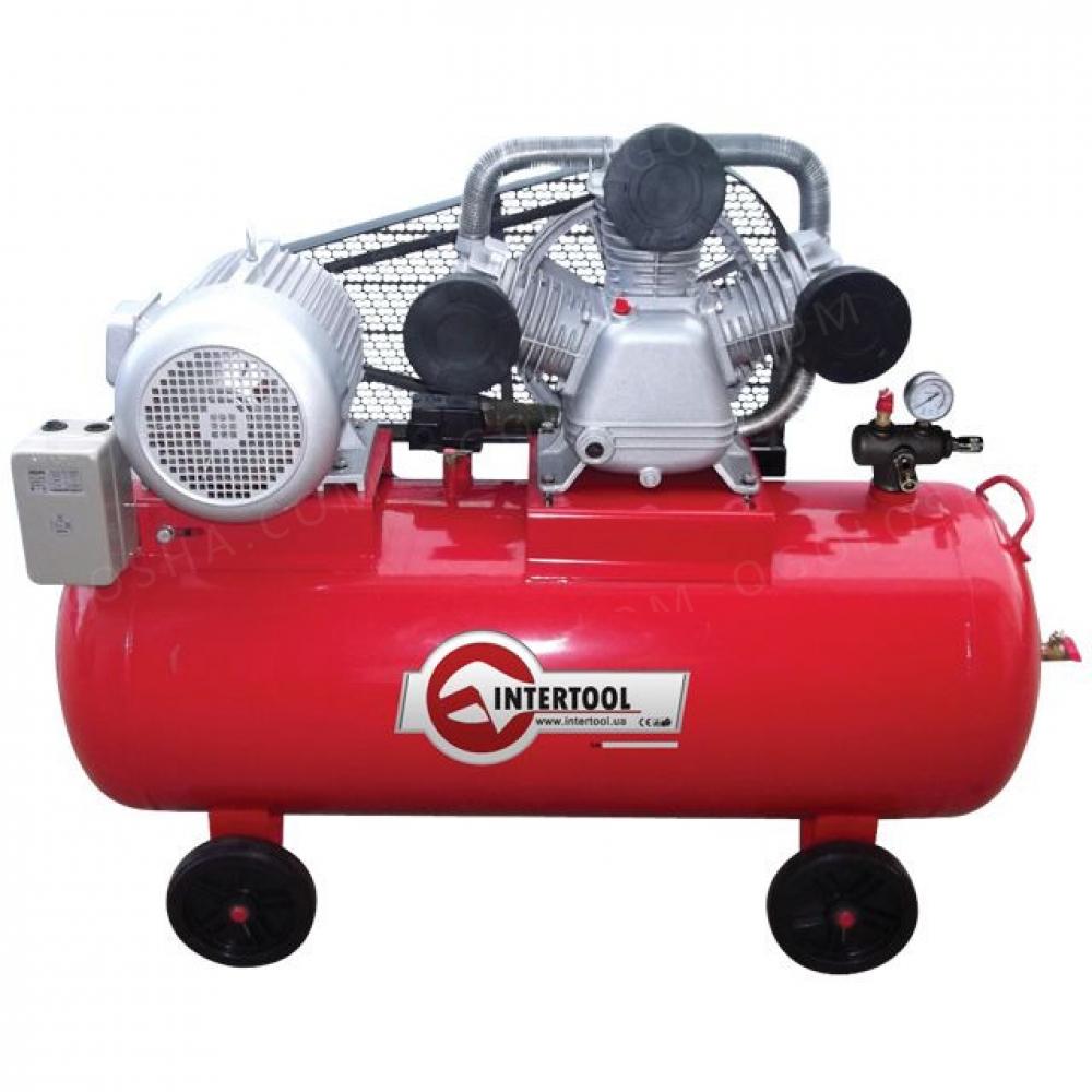 Компрессор 200л 10HP 7.5кВт 380В 8атм 1050л/мин. 3ци INTERTOOL PT-0040