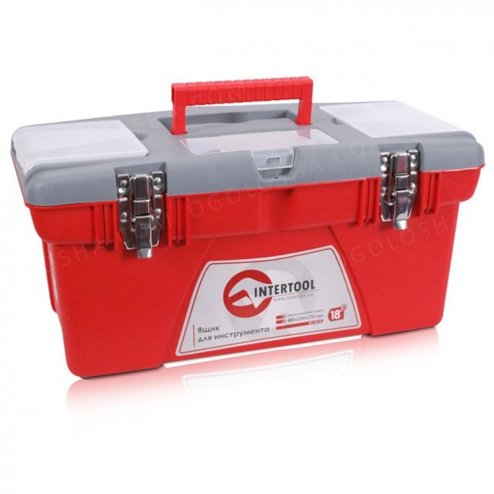 Ящик для инструмента с металлическими замками 18 48 INTERTOOL BX-0518