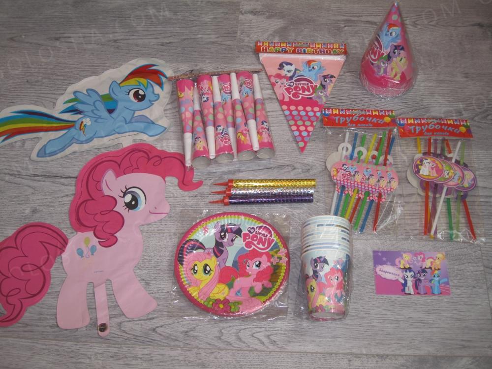 My Little Pony Пони посуда для праздника