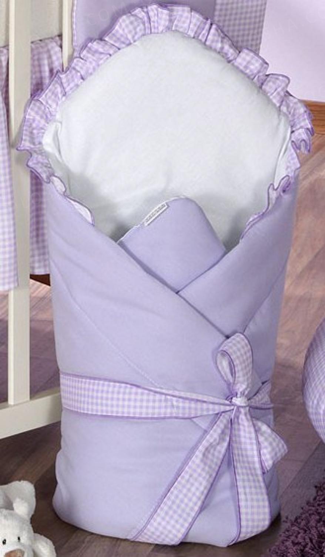 Конверт-одеяло для детей на выписку Milpol лиловый