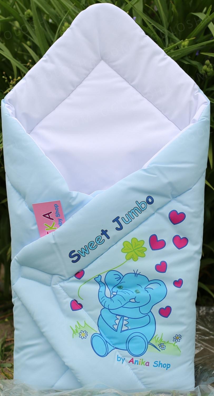 Конверт-одеяло для выписки новорожденных Слоник Anikababy Польша