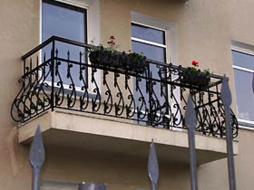 Заказать ограждения балконов и балконы кованые в дзержинске..