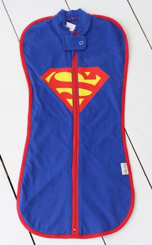 "Евро-пеленка кокон ""Superman"" + шапочка в подарок"