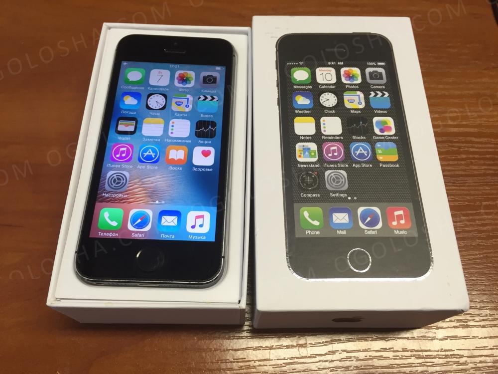 Apple iPhone 5s 16гб Neverlocked USA / ПОЛНЫЙ КОМПЛЕКТ /Отличное состояние