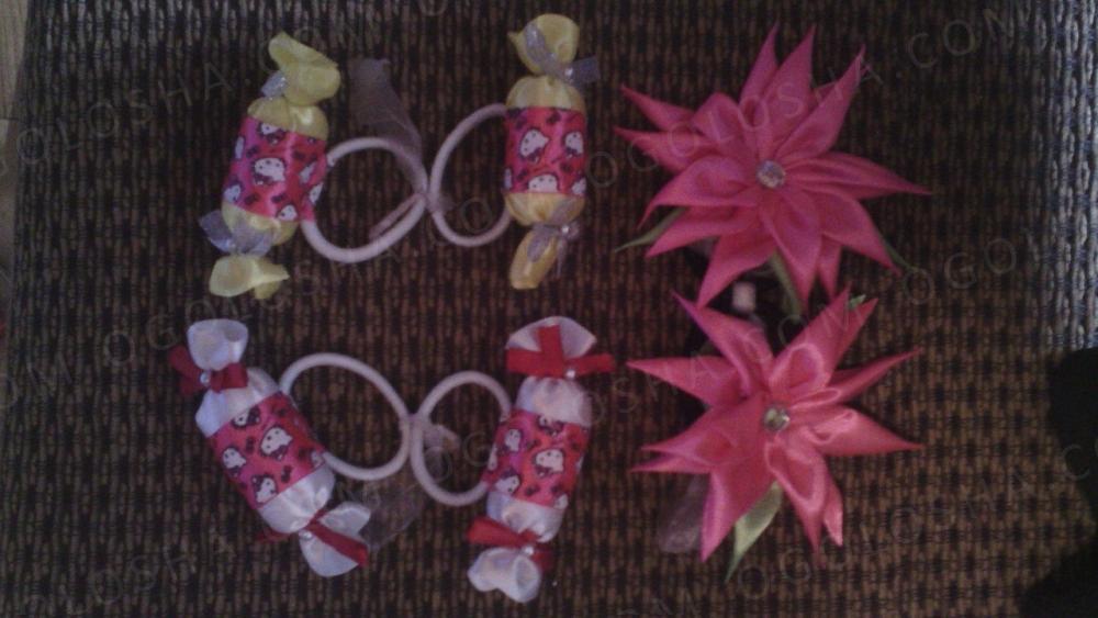 Резинки, заколки, украшения  для волос в стиле канзаши