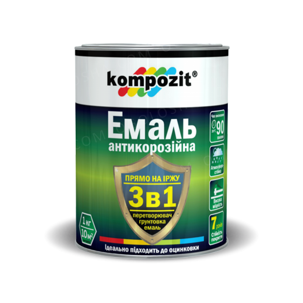 Эмаль антикоррозионная 3в1 Kompozit®