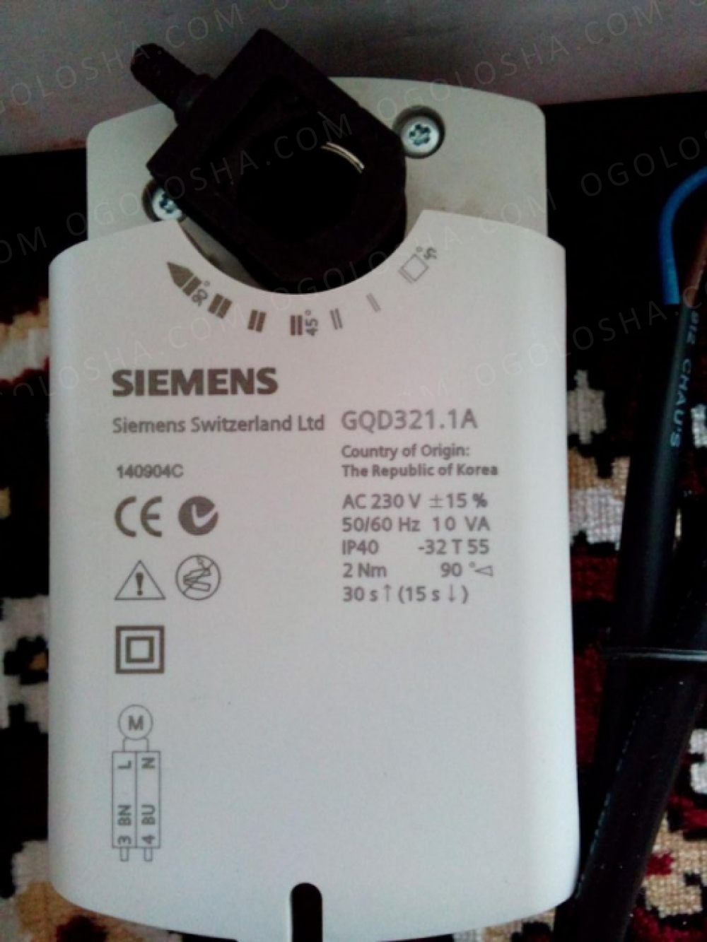 Привод SIEMENS Switzerland GQD 121.1A