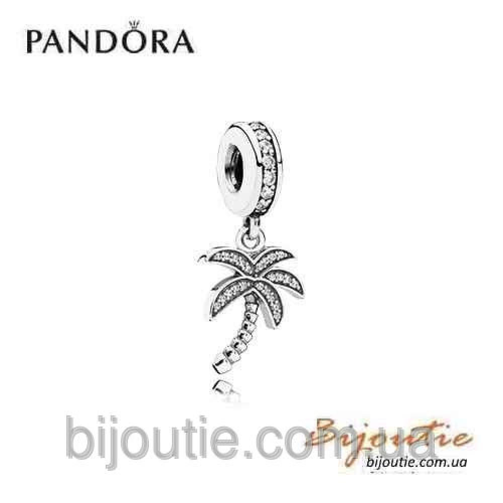 PANDORA шарм СВЕРКАЮЩАЯ ПАЛЬМА №791540CZ серебро 925 Пандора оригинал