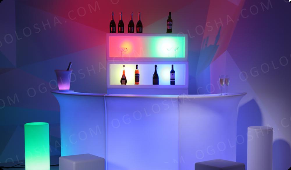 Светящаяся LED барная стойка