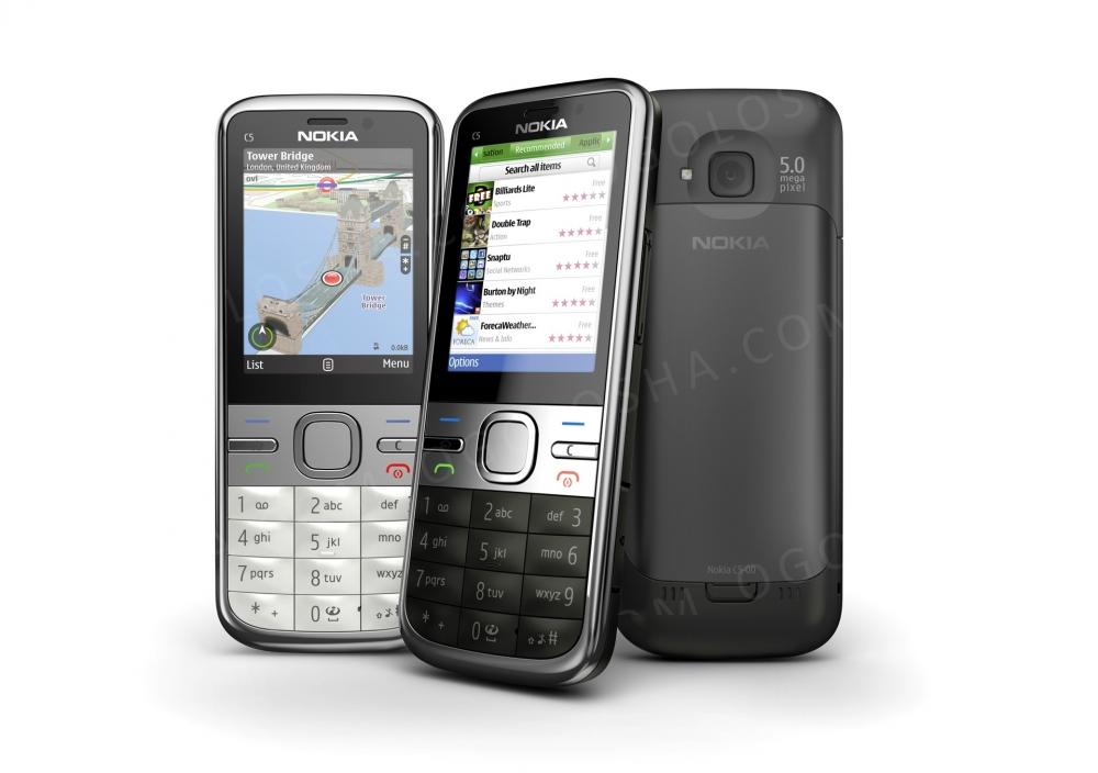 Nokia c5_Black, Silver_(Фінляндія)_НОВИЙ!