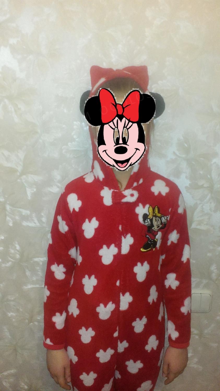 Флисовая пижама-человечек Minni Mouse от Disney