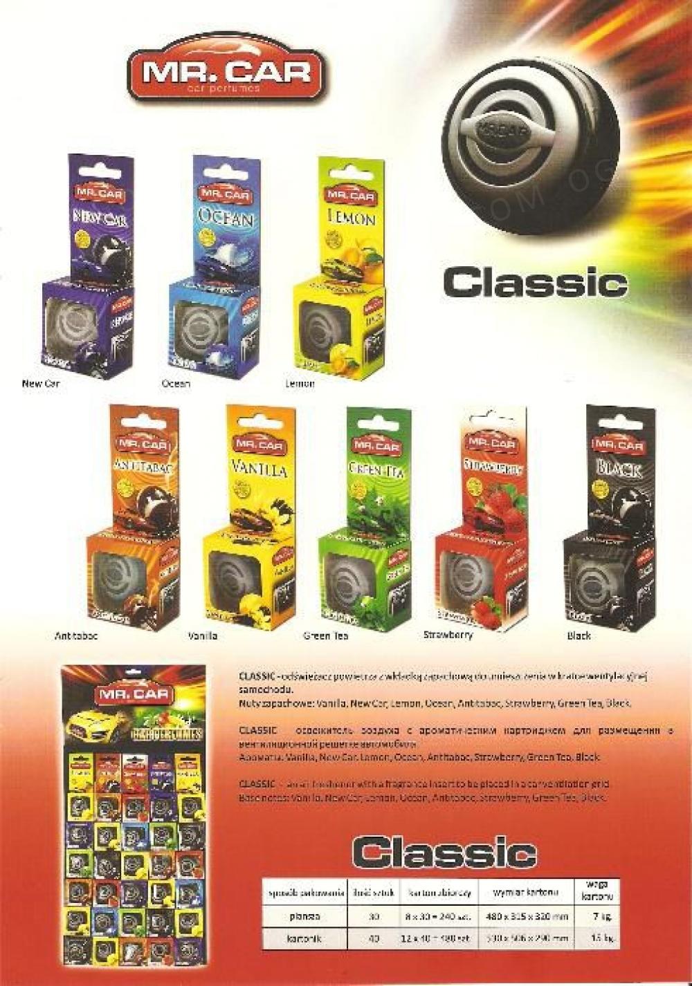 Продам ароматизатори для авто Classic Акция