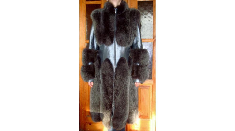 Эксклюзивное меховое пальто-шуба
