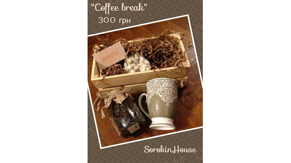 Подарок кофейный стильный, ручная работа, подарочный набор, подарок учителю