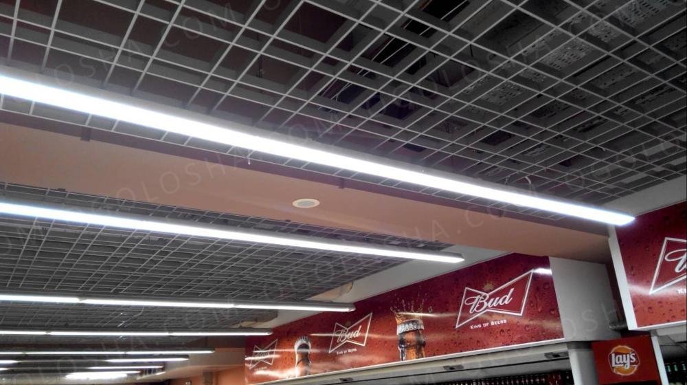 Магистральные LED светильники -для супермаркетов,аптек и тд (не Китай),видео :