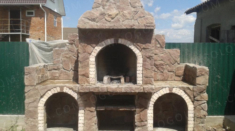 барбекю камины русские печи