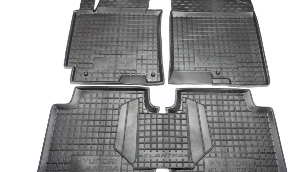 Коврики в салон полиуретановые для автомобиля Hyundai Elantra 2011- ( Avto-Gumm )