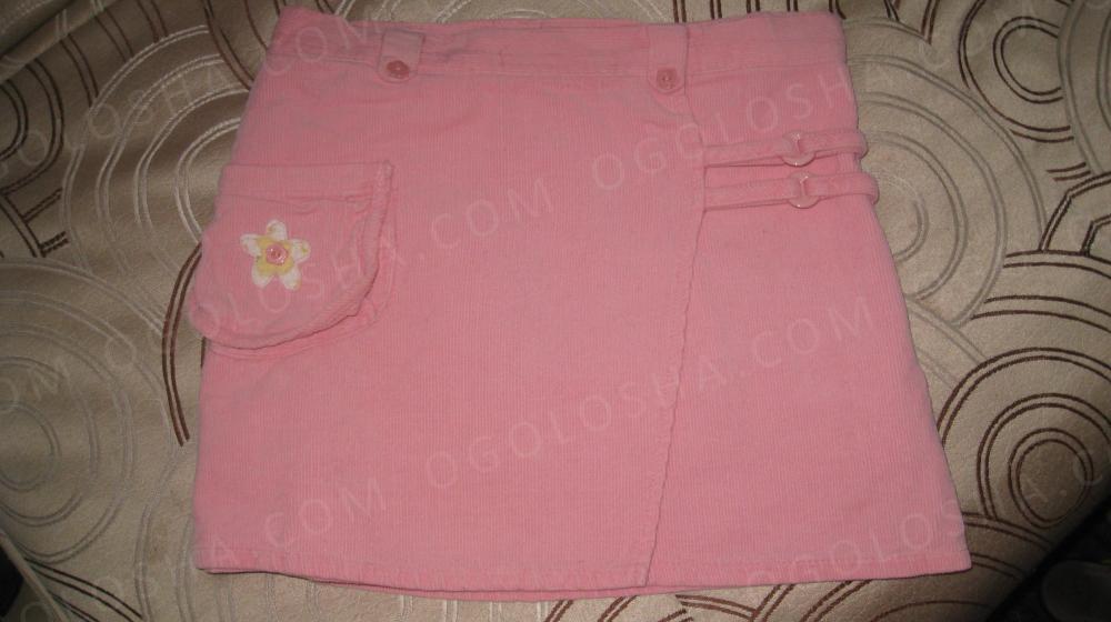 юбка вельветовая на подкладке новая для девочки 4-6 лет
