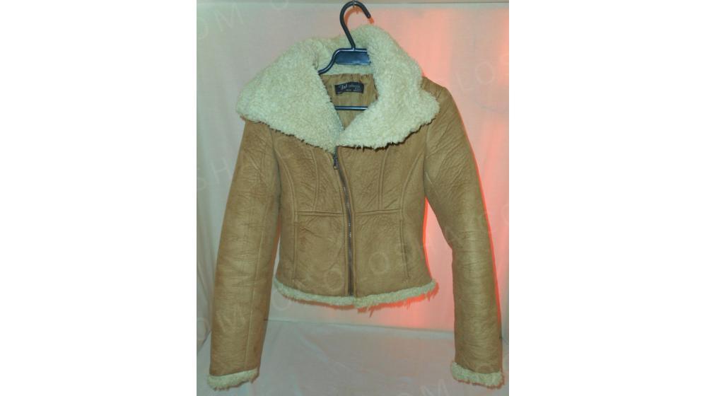 женская беживая осенняя/весенняя куртка теплый жакет S Возможен торг