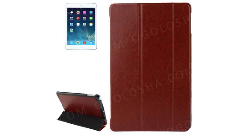 Кожаный ультратонкий чехол двухсторонний Dark Brown Темно Коричневый для iPad Air