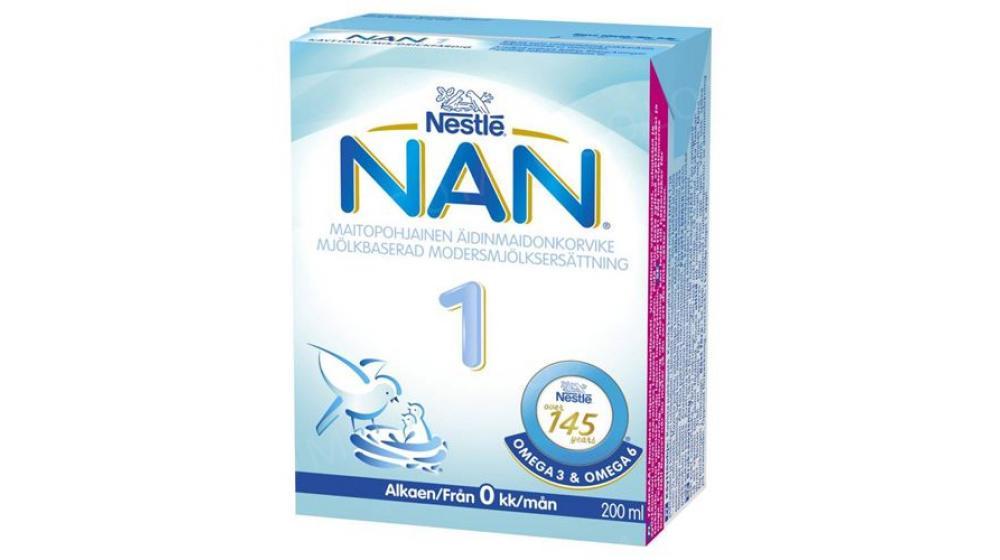 NAN 1 Nestle (нан 1) заменитель грудного молока под заказ со Швеции, 200 мл