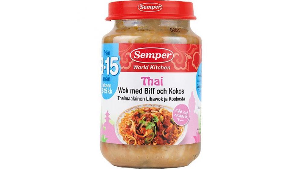 Семпер (Semper) привозим под заказ со Швеции Тайский Wok с говядиной пюре с 8 месяцев190г