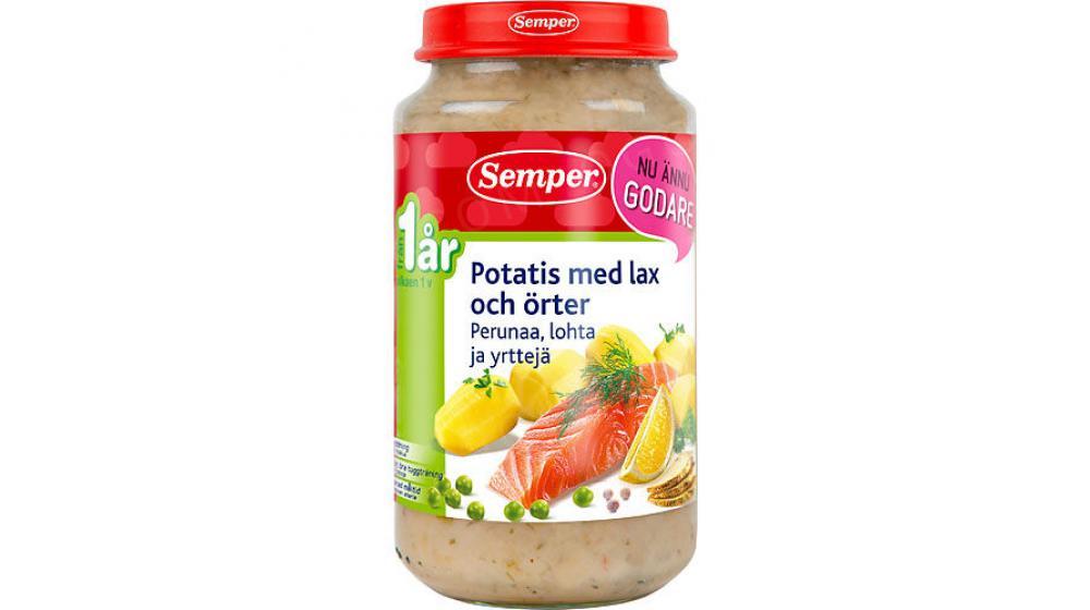 Semper (Семпер) привозим под заказ со Швеции картофель с лососем и травы пюре 12 месяцев 235г