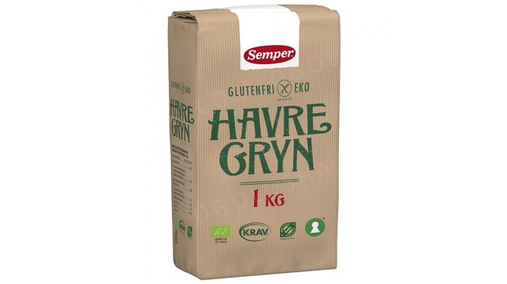 Органическая овсянка 1кг Semper Eko Havregryn, доставка под заказ со Швеции