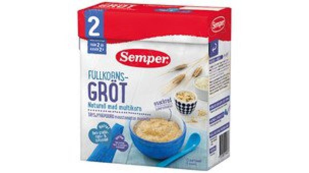 Мульти зерновая каша Семпер (Semper) для детей с 2-х лет, доставка под заказ со Швеции