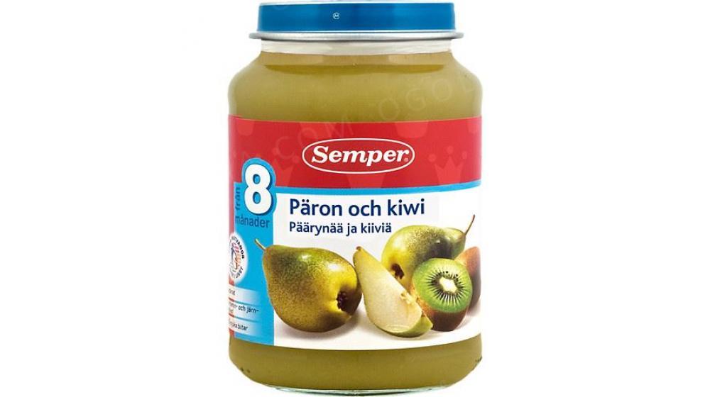 Пюре Semper (Семпер) груша и киви 8 месяцев 190г, доставка под заказ со Швеции