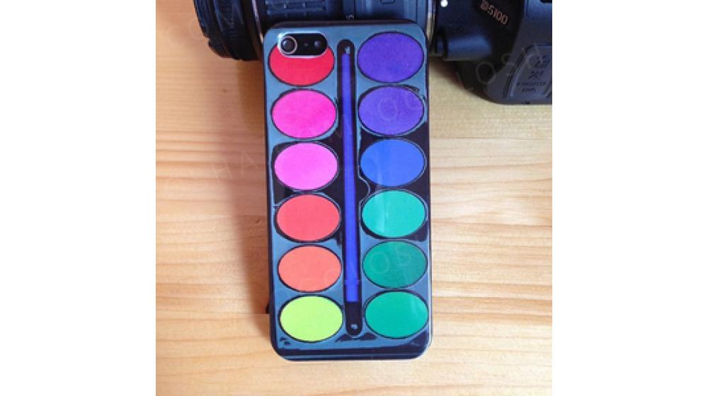 Чехол Набор красок с кисточкой для iPhone 5/5s
