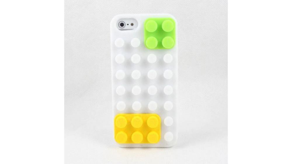 Силиконовый чехол Lego Белый для IPhone 5/5s