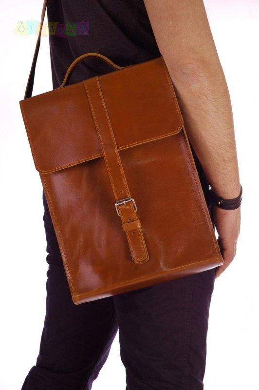 Кожаная мужская сумка ручной работы Agruz