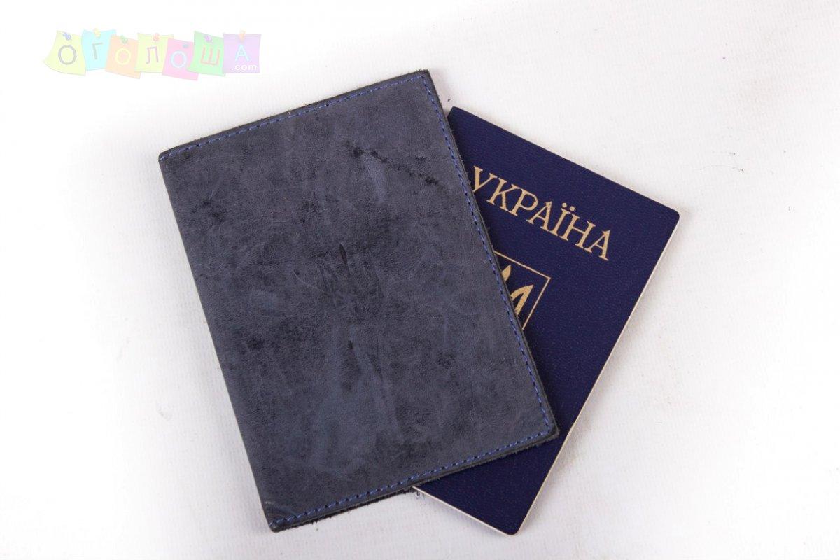 Кожаная паспортная обложка ручной работы от Agruz