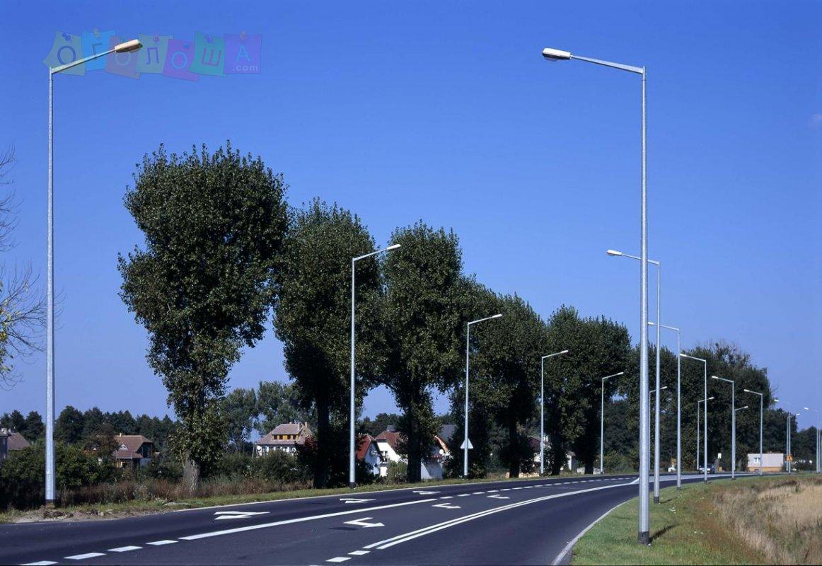 Опори освітлення оцинковані столби Польща.