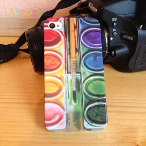 Чехол Набор Акварельных красок для iPhone 4/4s