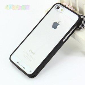 Чехол накладка lims Черный с прозрачным для IPhone 5