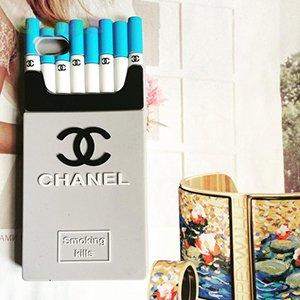 Силиконовый чехол Chanel Cigarettes Grey Серый для IPhone 6/6s