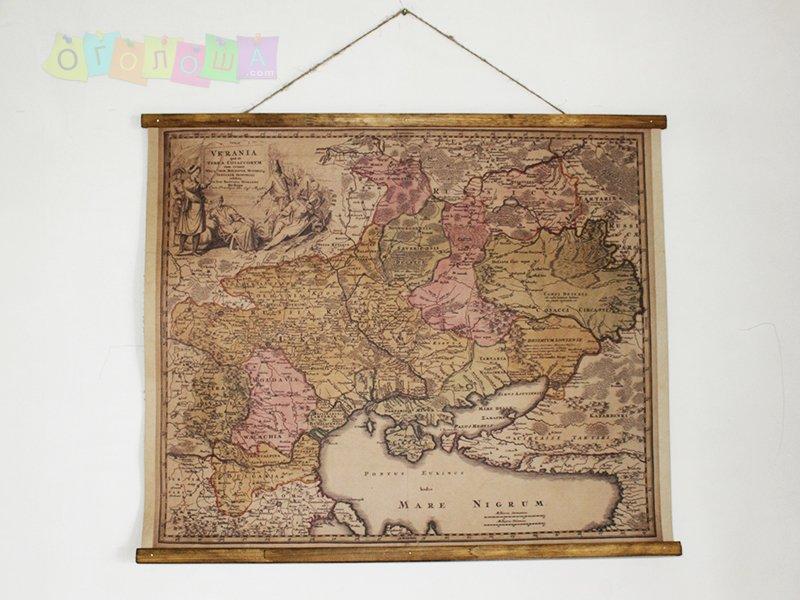 Карты мира и картины на коже, подарки