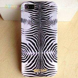 Силиконовый чехол Justcavalli Zebra Silver Зебра Серебряная для IPhone 5