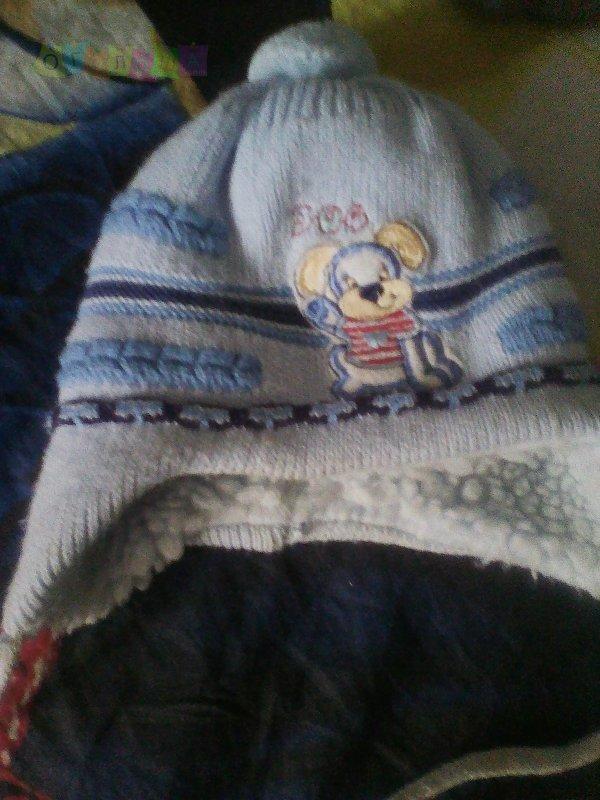 шапка зима 3-6мес