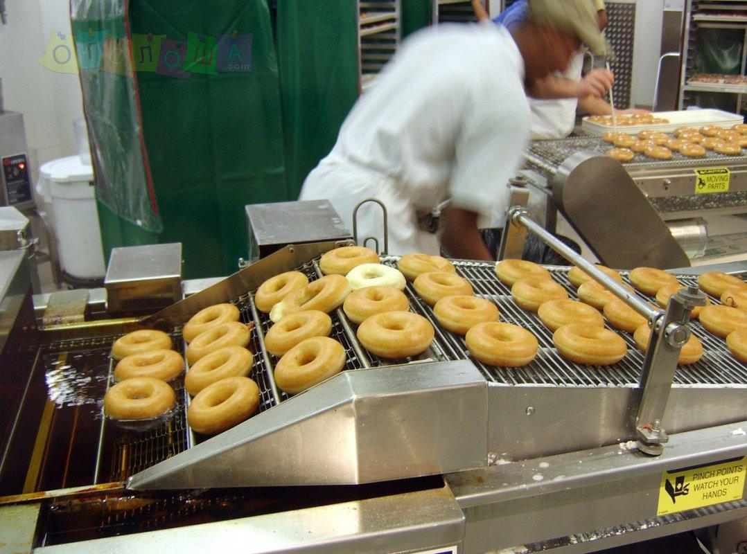 Упаковка и изготовление пончиков, Польша
