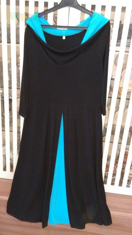 Стильное платье с капюшоном