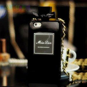 Силиконовый чехол Miss Dior Bottle Black Черный для IPhone 5/5s