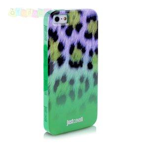 Силиконовый чехол Justcavalli Macro Leopard Леопард Зеленый для IPhone 5