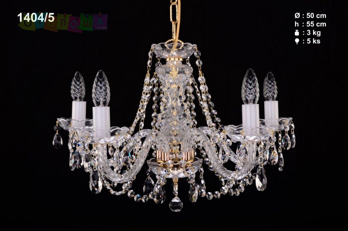 Хрустальная люстра Bohemia Ivele Crystal 1404 на три рожка, дешево
