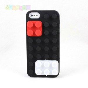 Силиконовый чехол Lego Черный для IPhone 5/5s